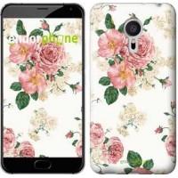 Чехол для Meizu Pro 5 цветочные обои v1 2293u-108