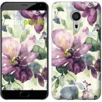 Чехол для Meizu Pro 5 Цветы акварелью 2237u-108