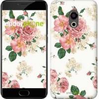 Чехол для Meizu Pro 6 цветочные обои v1 2293u-293