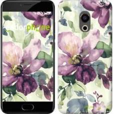 Чехол для Meizu Pro 6 Цветы акварелью 2237u-293