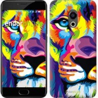 Чехол для Meizu Pro 6 Разноцветный лев 2713u-293