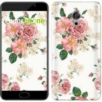 Чехол для Meizu Pro 6 Plus цветочные обои v1 2293u-678