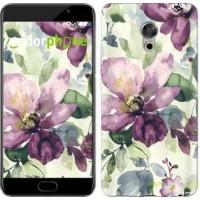 Чехол для Meizu Pro 6 Plus Цветы акварелью 2237u-678