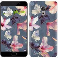 Чехол для Meizu Pro 6 Plus Нарисованные цветы 2714u-678