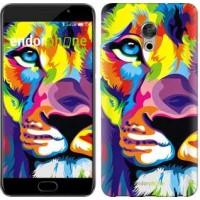 Чехол для Meizu Pro 6 Plus Разноцветный лев 2713u-678
