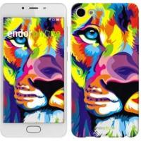 Чехол для Meizu U10 Разноцветный лев 2713u-415