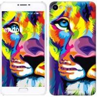 Чехол для Meizu U20 Разноцветный лев 2713m-416