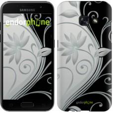 Чехол для Samsung Galaxy A3 (2017) Цветы на чёрно-белом фоне 840m-443