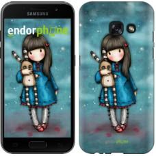 Чехол для Samsung Galaxy A3 (2017) Девочка с зайчиком 915m-443