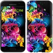 Чехол для Samsung Galaxy A3 (2017) Абстрактные цветы 511m-443