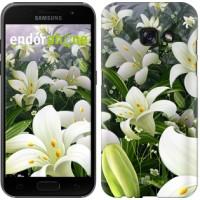 Чехол для Samsung Galaxy A3 (2017) Белые лилии 2686m-443