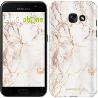 Чехол для Samsung Galaxy A3 (2017) Белый мрамор 3847m-443