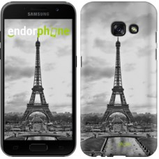 Чехол для Samsung Galaxy A3 (2017) Чёрно-белая Эйфелева башня 842m-443