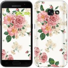 Чехол для Samsung Galaxy A3 (2017) цветочные обои v1 2293m-443