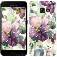 Чехол для Samsung Galaxy A3 (2017) Цветы акварелью 2237m-443