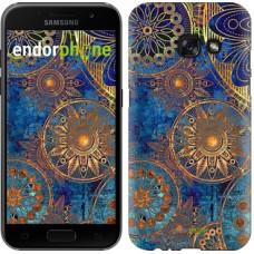 Чехол для Samsung Galaxy A3 (2017) Золотой узор 678m-443
