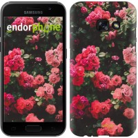 Чехол для Samsung Galaxy A3 (2017) Куст с розами 2729m-443