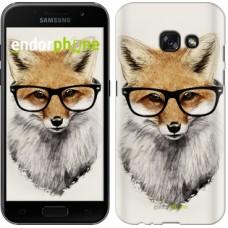 Чехол для Samsung Galaxy A3 (2017) Лис в очках 2707m-443