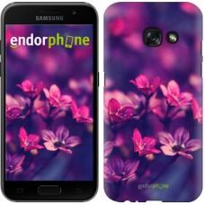 Чехол для Samsung Galaxy A3 (2017) Пурпурные цветы 2719m-443
