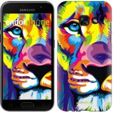 Чехол для Samsung Galaxy A3 (2017) Разноцветный лев 2713m-443