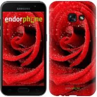 Чехол для Samsung Galaxy A3 (2017) Красная роза 529m-443