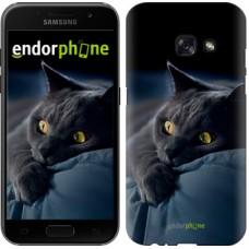 Чехол для Samsung Galaxy A3 (2017) Дымчатый кот 825m-443
