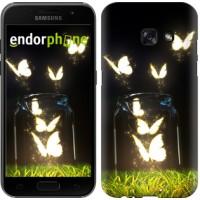 Чехол для Samsung Galaxy A3 (2017) Светящиеся бабочки 2983m-443