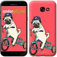 Чехол для Samsung Galaxy A5 (2017) Мопс на велосипеде 3072c-444