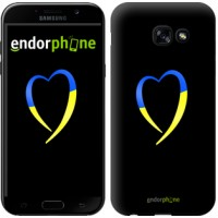 Чехол для Samsung Galaxy A5 (2017) Жёлто-голубое сердце 885c-444