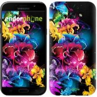 Чехол для Samsung Galaxy A7 (2017) Абстрактные цветы 511m-445