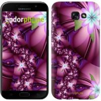 Чехол для Samsung Galaxy A7 (2017) Цветочная мозаика 1961m-445