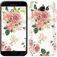 Чехол для Samsung Galaxy A7 (2017) цветочные обои v1 2293m-445