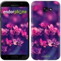Чехол для Samsung Galaxy A7 (2017) Пурпурные цветы 2719m-445