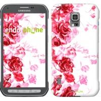Чехол для Samsung Galaxy S5 Active G870 Нарисованные розы 724u-364