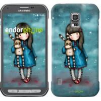 Чехол для Samsung Galaxy S5 Active G870 Девочка с зайчиком 915u-364
