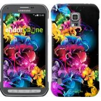 Чехол для Samsung Galaxy S5 Active G870 Абстрактные цветы 511u-364