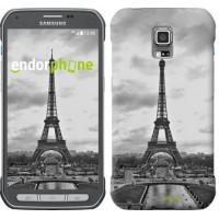 Чехол для Samsung Galaxy S5 Active G870 Чёрно-белая Эйфелева башня 842u-364