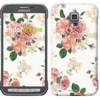 Чехол для Samsung Galaxy S5 Active G870 цветочные обои v1 2293u-364