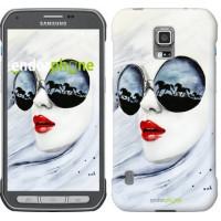Чехол для Samsung Galaxy S5 Active G870 Девушка акварелью 2829u-364