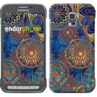 Чехол для Samsung Galaxy S5 Active G870 Золотой узор 678u-364