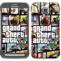 Чехол для Samsung Galaxy S5 Active G870 GTA 5. Collage 630u-364