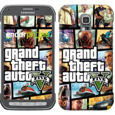 Чехол для Samsung Galaxy S5 Active G870 GTA 5. Collage 630u-364