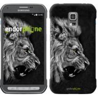 Чехол для Samsung Galaxy S5 Active G870 Лев 1080u-364
