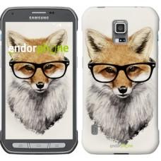 Чехол для Samsung Galaxy S5 Active G870 Лис в очках 2707u-364