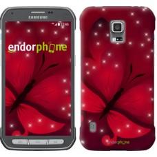 Чехол для Samsung Galaxy S5 Active G870 Лунная бабочка 1663u-364