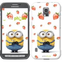 Чехол для Samsung Galaxy S5 Active G870 Миньон с клубникой 3369u-364