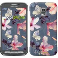 Чехол для Samsung Galaxy S5 Active G870 Нарисованные цветы 2714u-364