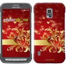 Чехол для Samsung Galaxy S5 Active G870 Ажурные сердца 734u-364