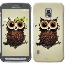 Чехол для Samsung Galaxy S5 Active G870 Сова из кофе 777u-364