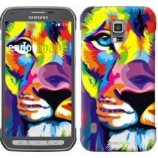 Чехол для Samsung Galaxy S5 Active G870 Разноцветный лев 2713u-364